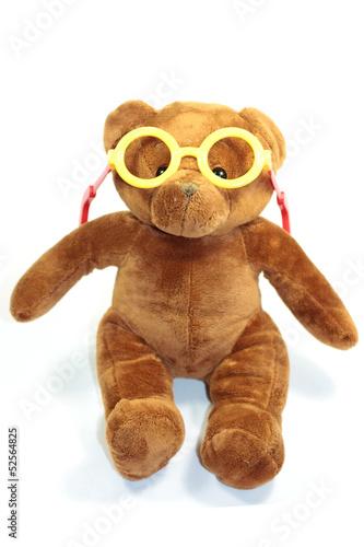 ourson lunettes