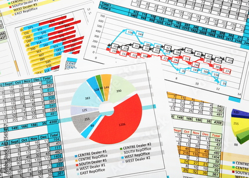 Business Reports in Color Charts