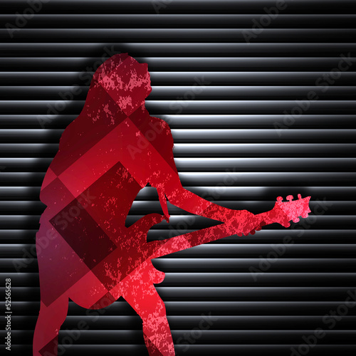 Abstract guitarist texture background