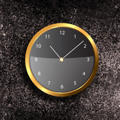Modern Clock on the textured wall