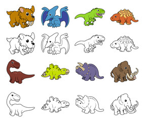 Cartoon Dinosaur Illustrations