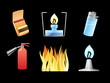 Icons for fire