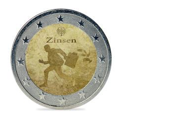 Zinsen - Münze
