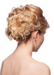 Woman with elegant hairstyle