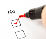 Negative answer in a checklist