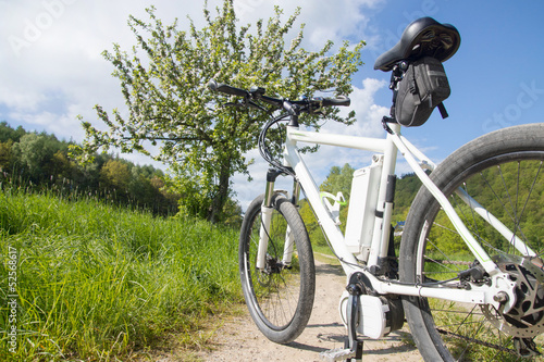 Fototapeta e-bike, pedelec, akku, fahrrad, mountainbike
