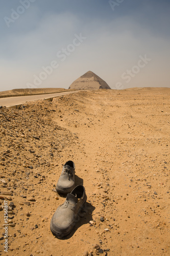Abandoned shores on the road to the Bent Pyramid