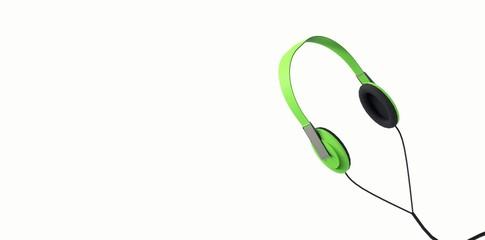 Audifonos Color Verde - Headphones - Auricular