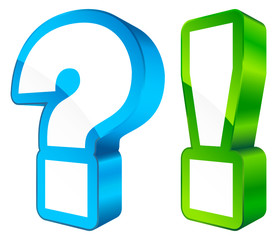Icons Question & Answer 3D Blue/Green