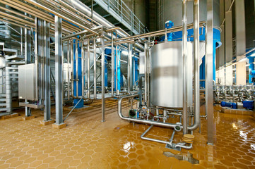 Fermenting department of the brewing  plant