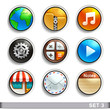 round button icons-set 3