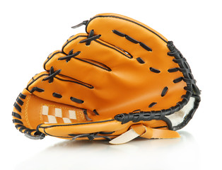 Baseball glove isolated on white