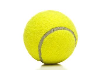 Tennis ball closeup