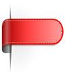 Rote Lasche mit Naht
