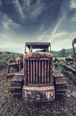 rusty tractor front