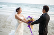 Wedding Couple at beach