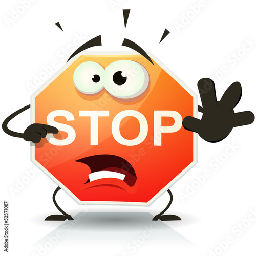 Stop Sign Icon Character