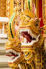 naga at thai temple