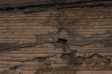 Wooden Cracked Grunge Background