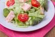 Salad with salmon and asparagus