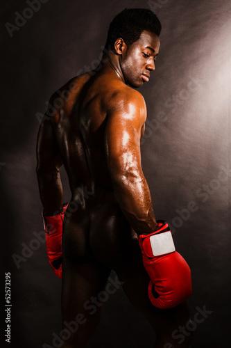 Fototapeten,boxer,boxberg,fighter,afrikanisch