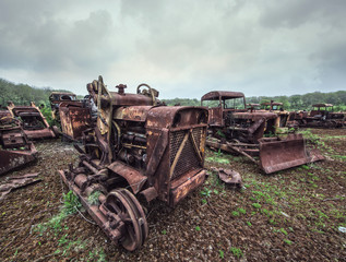 rusty heavy machines