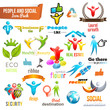 People Social Community 3d icon and Symbol Pack