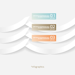 Abstract Origami Style Paper Infografics