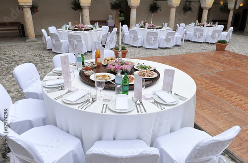 Catering, Wedding reception area