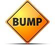 Bump warning sign