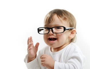 Beautiful baby with glasses