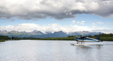 Pontoon PLane Taxis Lake Hood Seaplane Base Anchorage Alaska