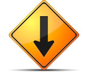 Backward way sign