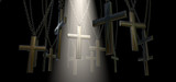Hanging Crucifix And Spotlight Salvation poster