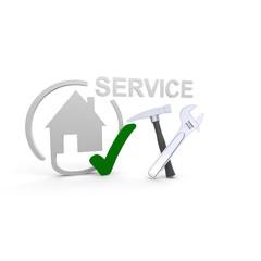 Haus, Wohnung, service,