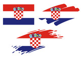Brush Flags Croatia