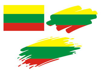 Brush Flags Lithuania