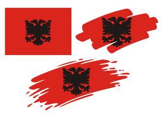 Brush Flags Albania