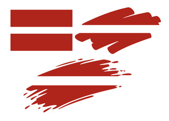 Brush Flags Latvia