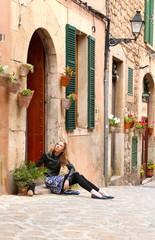 tourist girl on Mallorca