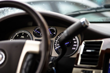 Luxury car dashboard
