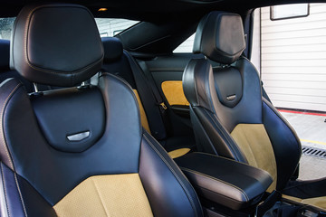 Luxury sport car inside view