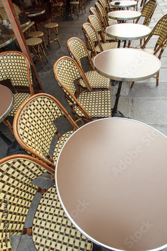 Traditional parisian café