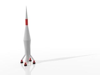 Cohete de largo alcance en 3D