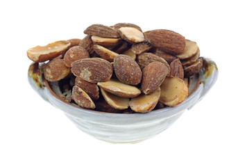Roasted Almond Halves Dish Side