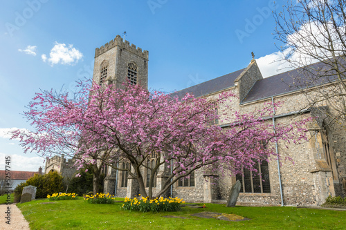 English parish church of St Nicholas in Wells, Norfolk, UK