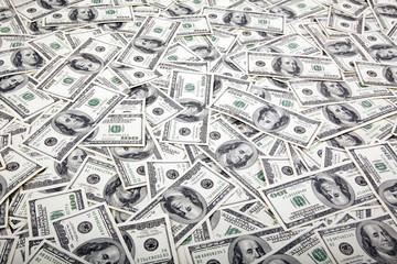 One Hundred Dollar Bills Background - Mess