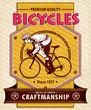 Vintage Bicycle poster design
