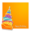Vector Illustration of a Birthday Card - 52579293