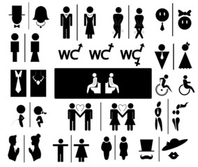 Toilet vector set